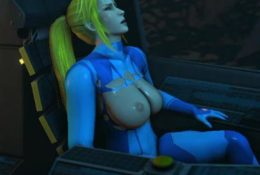 Samus on a Strange Alien Planet