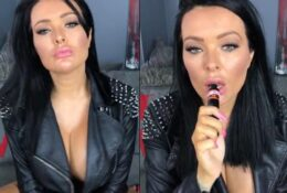 JOI whilst Smoking my vape and then smoking a cork cigarette, wearing a leather jacket and black lingerie