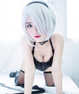 Chono Black 2B Boudoir Cosplay Patreon Photos