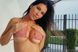 MissBella Sexy Teasing In Red Bikini