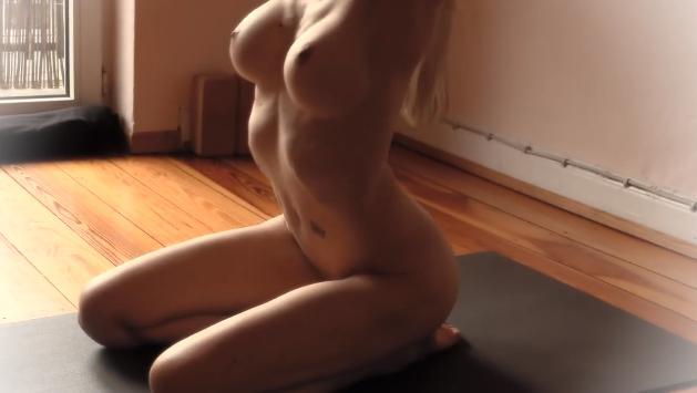 Yoga nude video