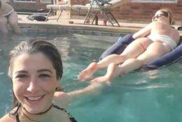 Twitch Steamer Pinksparklez Micro Bikini Flashing Ass Swimming Pool Video