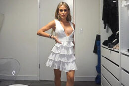Polina Beregova Try On Haul Nipple Slip YouTube Video