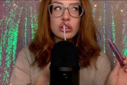 Karuna Satori ASMR Lip Pressing & Gloss Patreon Video
