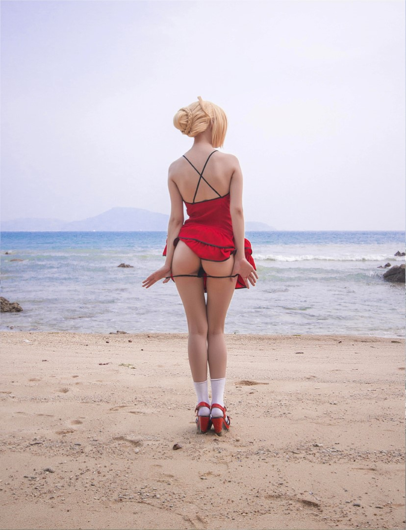 [object object] Helly Valentine Nude Cosplay Leaked Patreon videos Disharmonica Nude Saber Nero Beach Photos 11