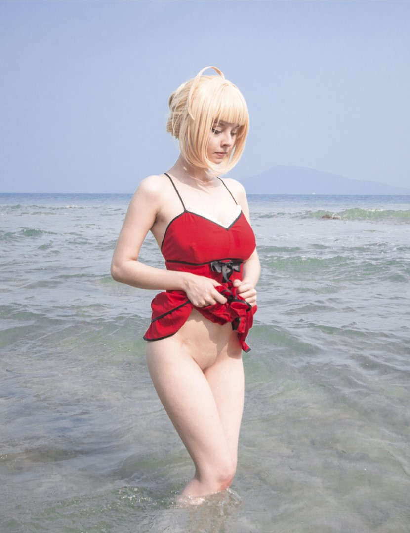 [object object] Helly Valentine Nude Cosplay Leaked Patreon videos Disharmonica Nude Saber Nero Beach Photos 12