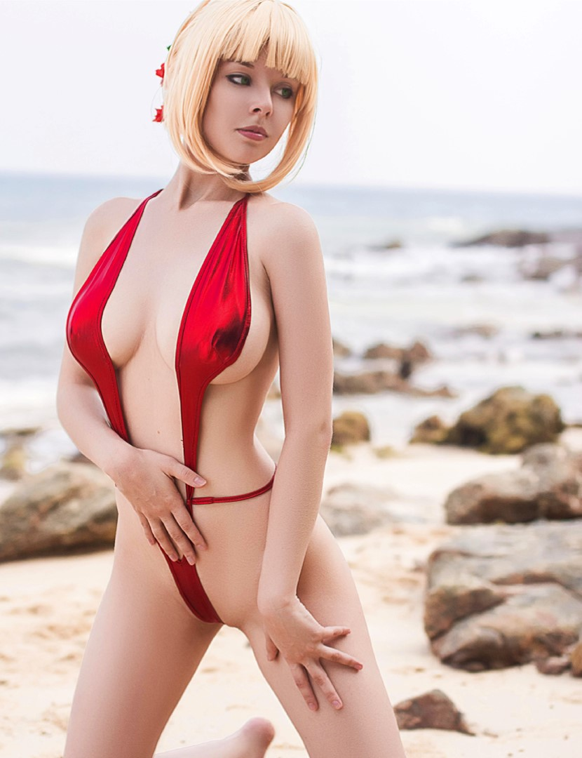 [object object] Helly Valentine Nude Cosplay Leaked Patreon videos Disharmonica Nude Saber Nero Beach Photos 17