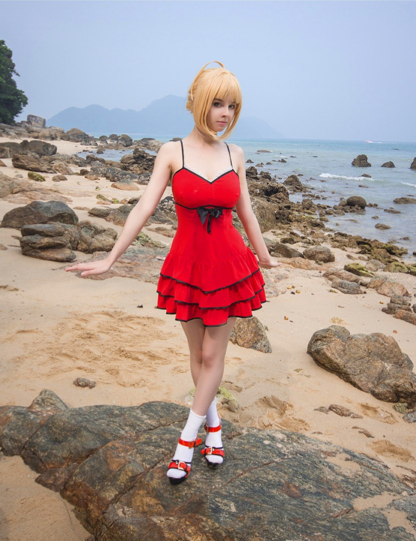 [object object] Helly Valentine Nude Cosplay Leaked Patreon videos Disharmonica Nude Saber Nero Beach Photos 5