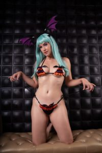 Meg Turney Patreon Morrigan Bikini