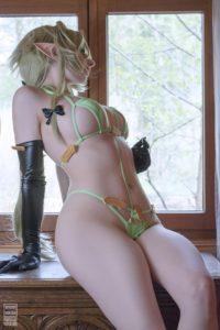 Mikomi Hokina Nude Dragon Lady Cosplay