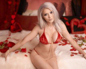 K8sarkissian Lewd Red Lingerie Valentines