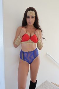Christina Khalil Super Woman Costume