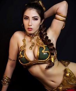 Danielle Vedovelli Slave Leia Cosplay
