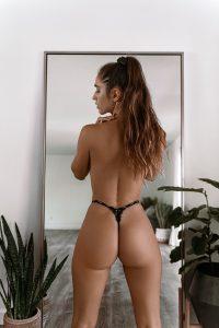 Natalie Roush Black Lingerie Lewds