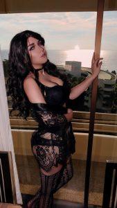 ASMR KittyKlaw Lewd Black Yennefer Lingerie