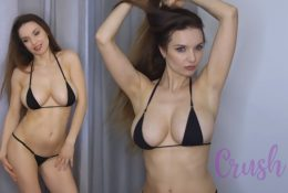 Xenia Crushova Sexy Youtuber Micro Bikini Video