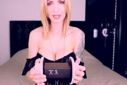 ASMR Amy Patreon Black Lingerie Dress Video