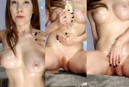 Ginger ASMR Oiled Up and Rubbing Myself Video