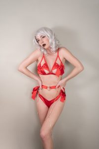 Hannah Ray Lewd Red Lingerie Patreon Photos
