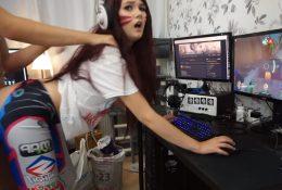 Miss Banana Gamer Girl D.Va Creampie Porn Video