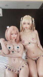 Byoru x Hidori DOA Bikini Lewd Photos