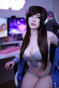Lynie Nicole D.va Nude Cosplay