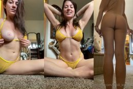 Heidi Lee Bocanegra Yellow Bikini Nude Haul Tease Video