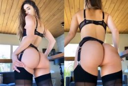 Natalie Roush Ass Tease Black Lingerie Video