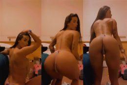 Sophia Carracini Topless Thong Tease Video