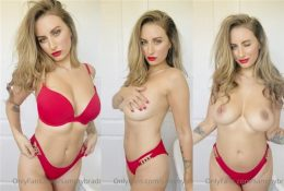Sammy Braddy Red Lingerie Nude Video Leaked