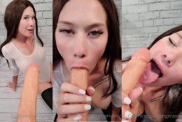 Ginger ASMR Deepthroat Sloppy Blowjob Video Leaked