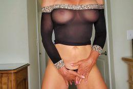 Reba Fitness See Through Black Sheer Dress Video Leaked