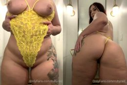 Ruby Red Topless Yellow Lingerie Video Leaked
